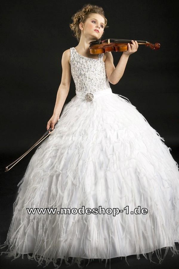 Weisses Boa Kleid Ballkleid Abendkleid Für Mädchen Von Www