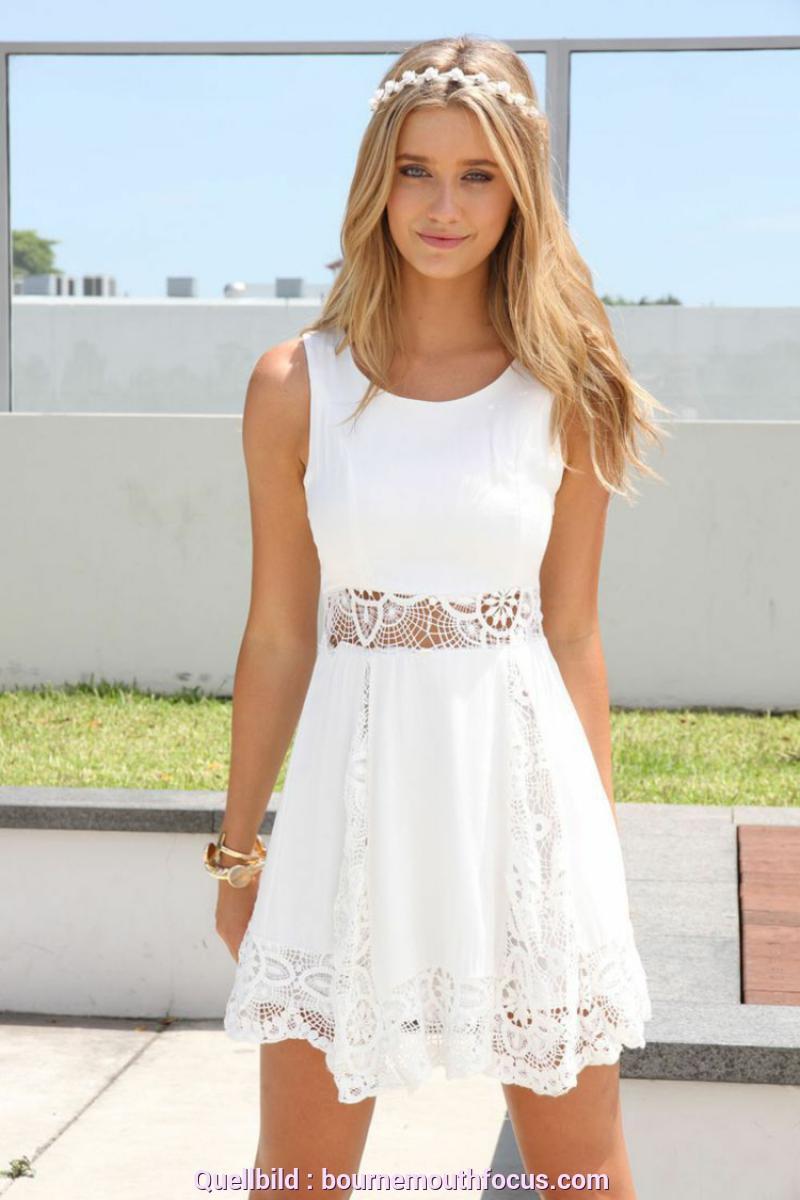 Weite Weißes Strickkleid Sommer Weiß Blaues Kleid