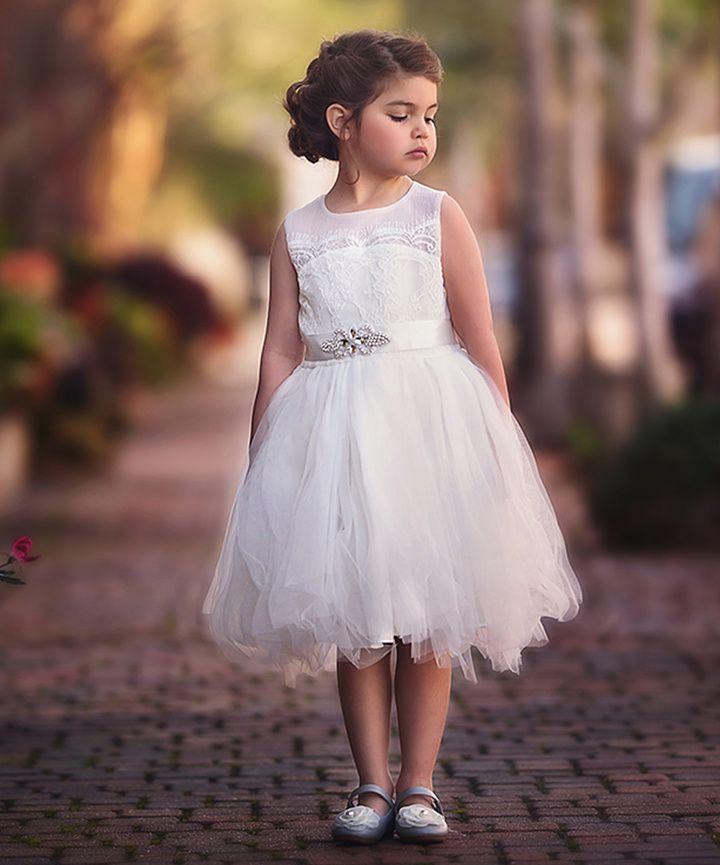 White Laceaccent Francesca Dress  Infant Toddler