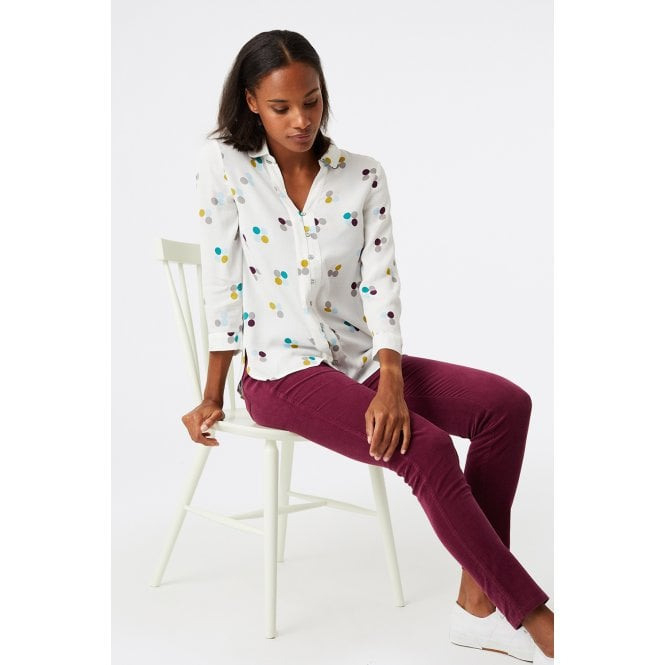 White Stuff Clothing 427246 Periwinkle Shirt In Ivory