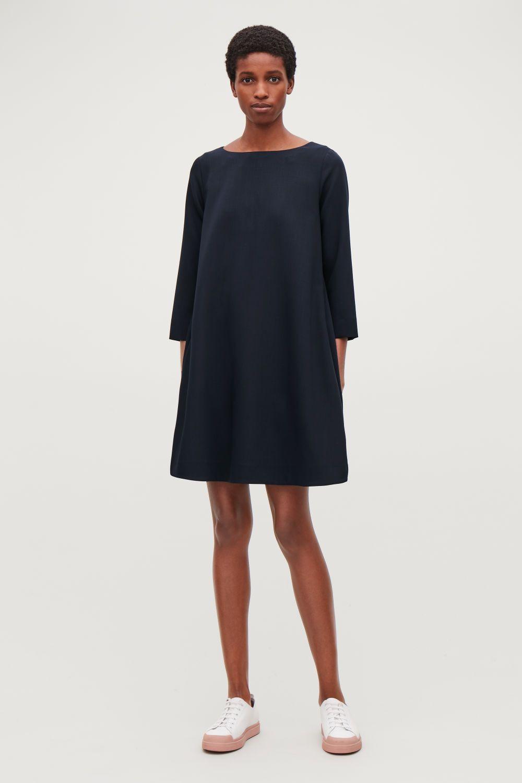 Wideneck Aline Wool Dress  Cos Dresses Kleider Wolle