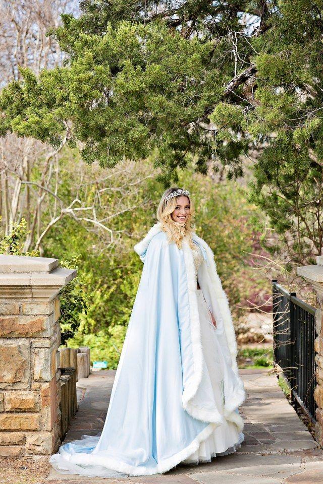 Winter Bridal Cape Createdcape  Crown Creations Www