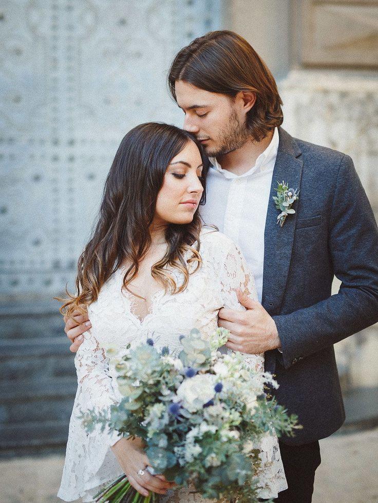 Winterliche Brautstrauß Inspiration Im Greenery Stil Mit