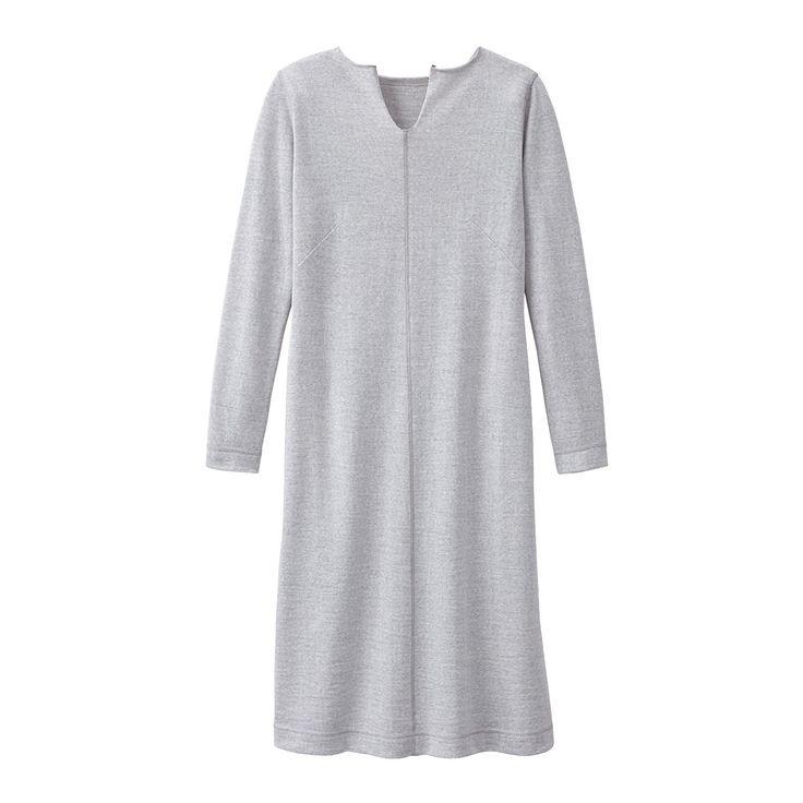 Wolljerseykleid Eisgrau  Kleider Kleider Sommer Kleid