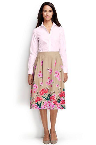 Women'S Full Midi Skirt From Lands' End  Gehrock Damen