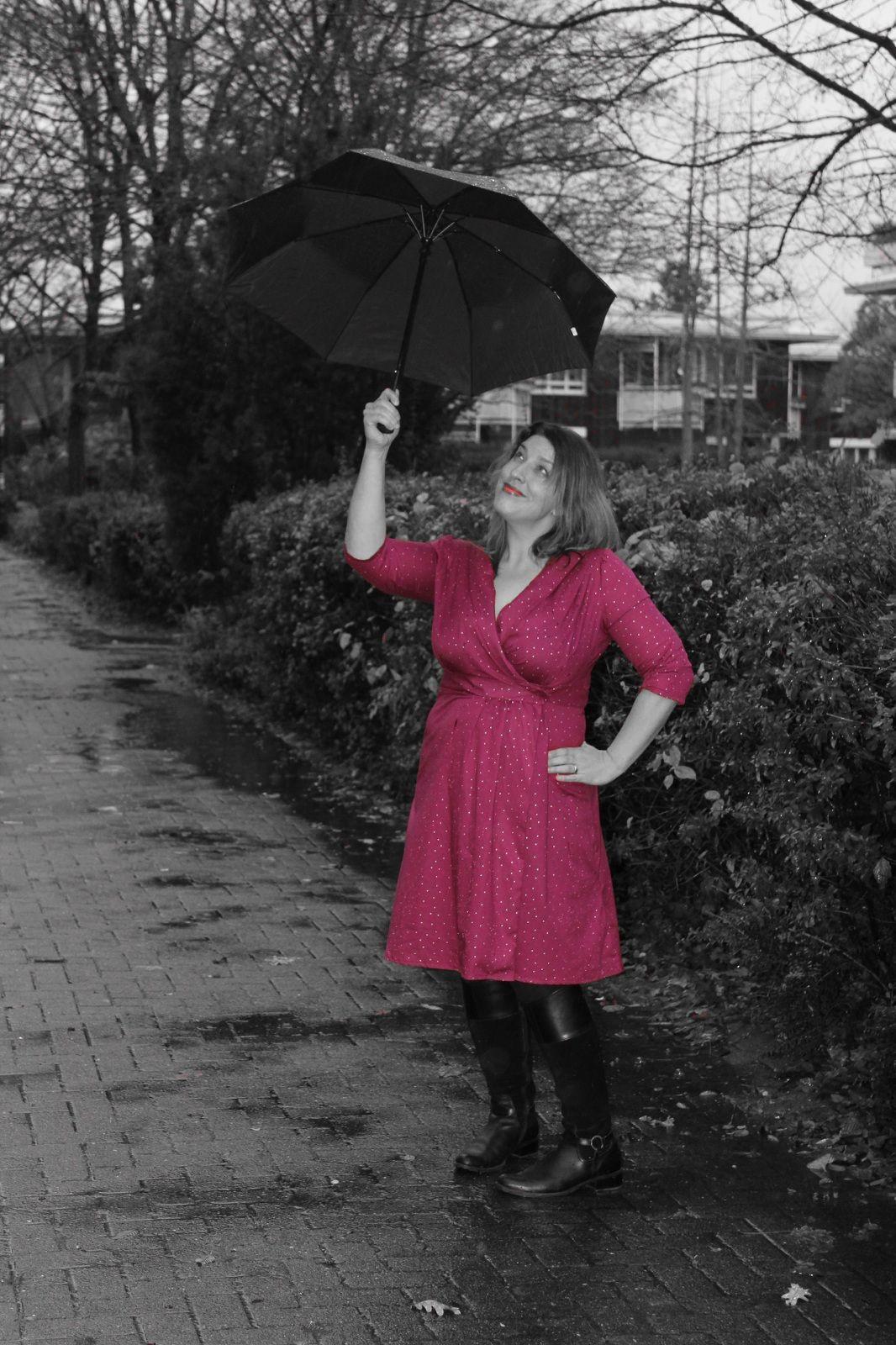 Wrap My Dress  40Iger Jahre Vintage Kleid Aus Bio Voile
