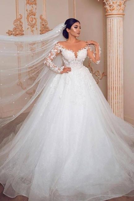 Wunderschone Hochzeitskleider Mit Armel  Spitze