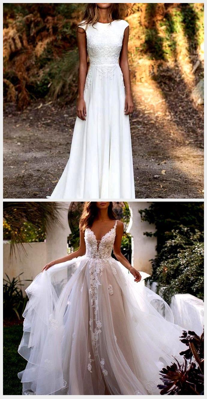 Wunderschöner Wedding Look Weisses Kleid Für