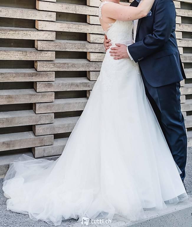 Wunderschönes Hochzeitskleid Ivory Frisch Gereinigt In