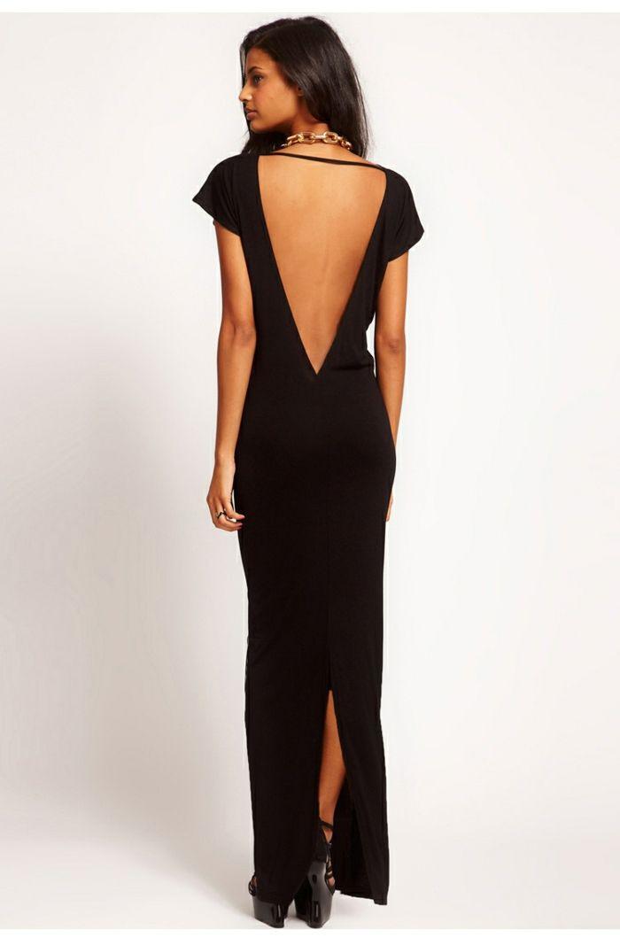 Wunderschönes Modell Rückenfreies Kleid  Maxikleid