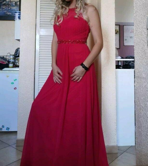 Wunderschönes Rotes Maxi Kleid Neu In Sachsenanhalt
