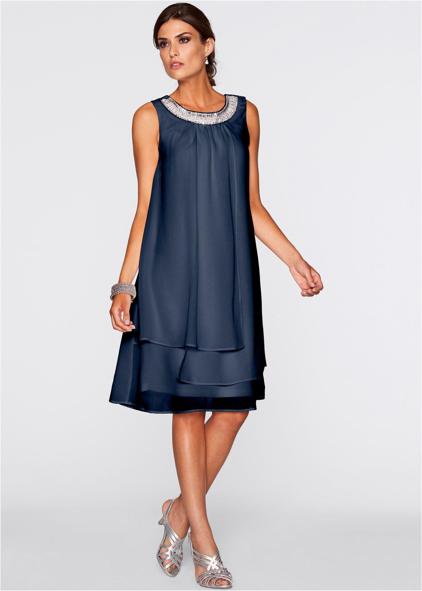 Wundervolles Kleid Mit Perlen  Dunkelblau In 2020