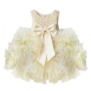 Yizyif Baby Mädchen Kleid Schleife Bowknot Blumenmädchenk