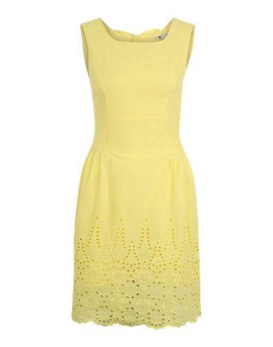 Yumi Sommerkleid Mit Lochstickerei Gelb  Sommer Kleider