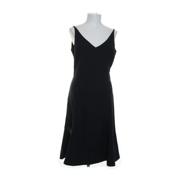 Zara Basic Kleid Größe 42 Schwarz Polyester/Viskose
