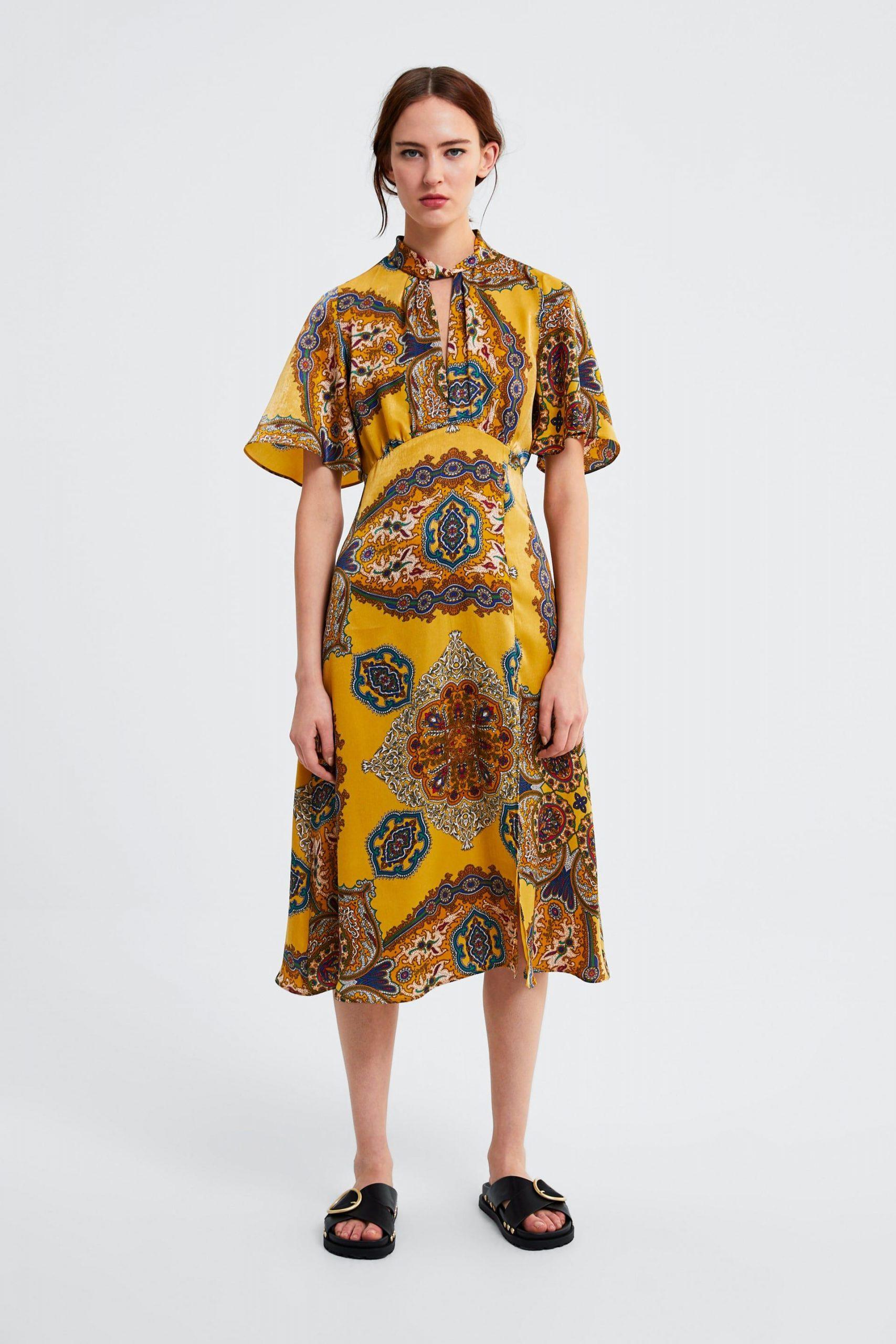 Zara  Γυναικεια  Εμπριμε Φορεμα  Gemustertes Kleid