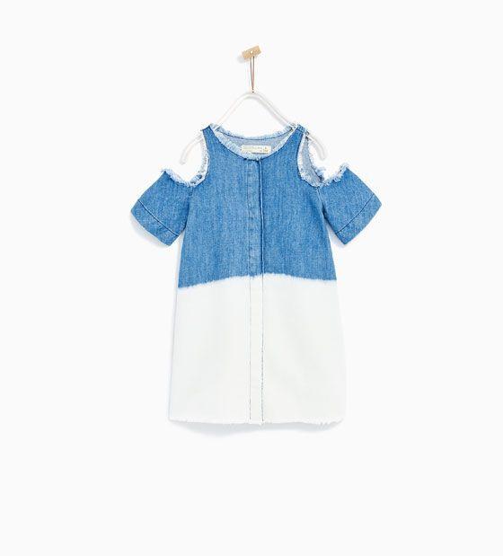 Zara  Çocuk  Bati̇k Denim Elbi̇se  Kinder Kleider