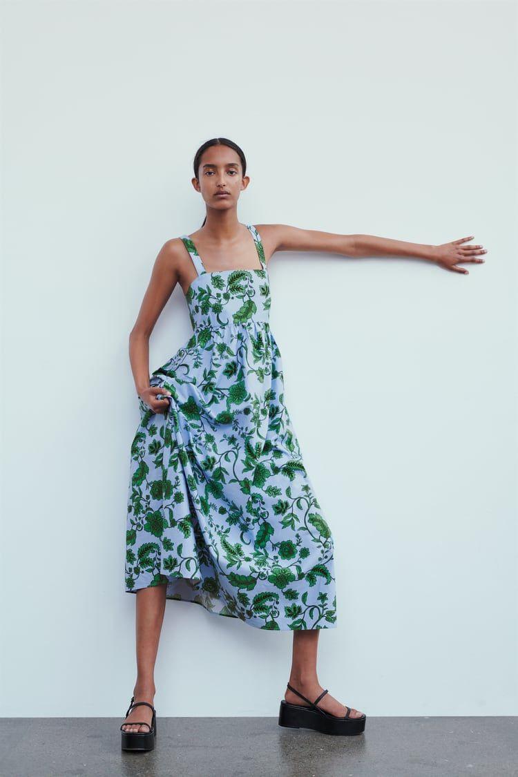 Zara  Женщины  Платье С Принтом In 2020  Kleider