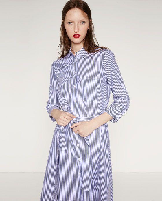 Zara  Женщины  Платье Studio Рубашечного Покроя