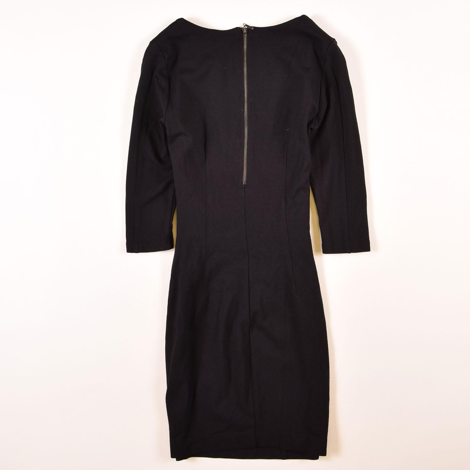 Zara Damen Kleid Dress Bodycon Elegant Vausschnitt Grm