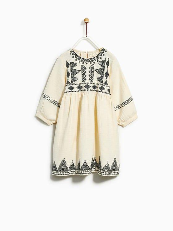 Zara  Kids  Embroidered Dress  Kinderkleidung Kinder