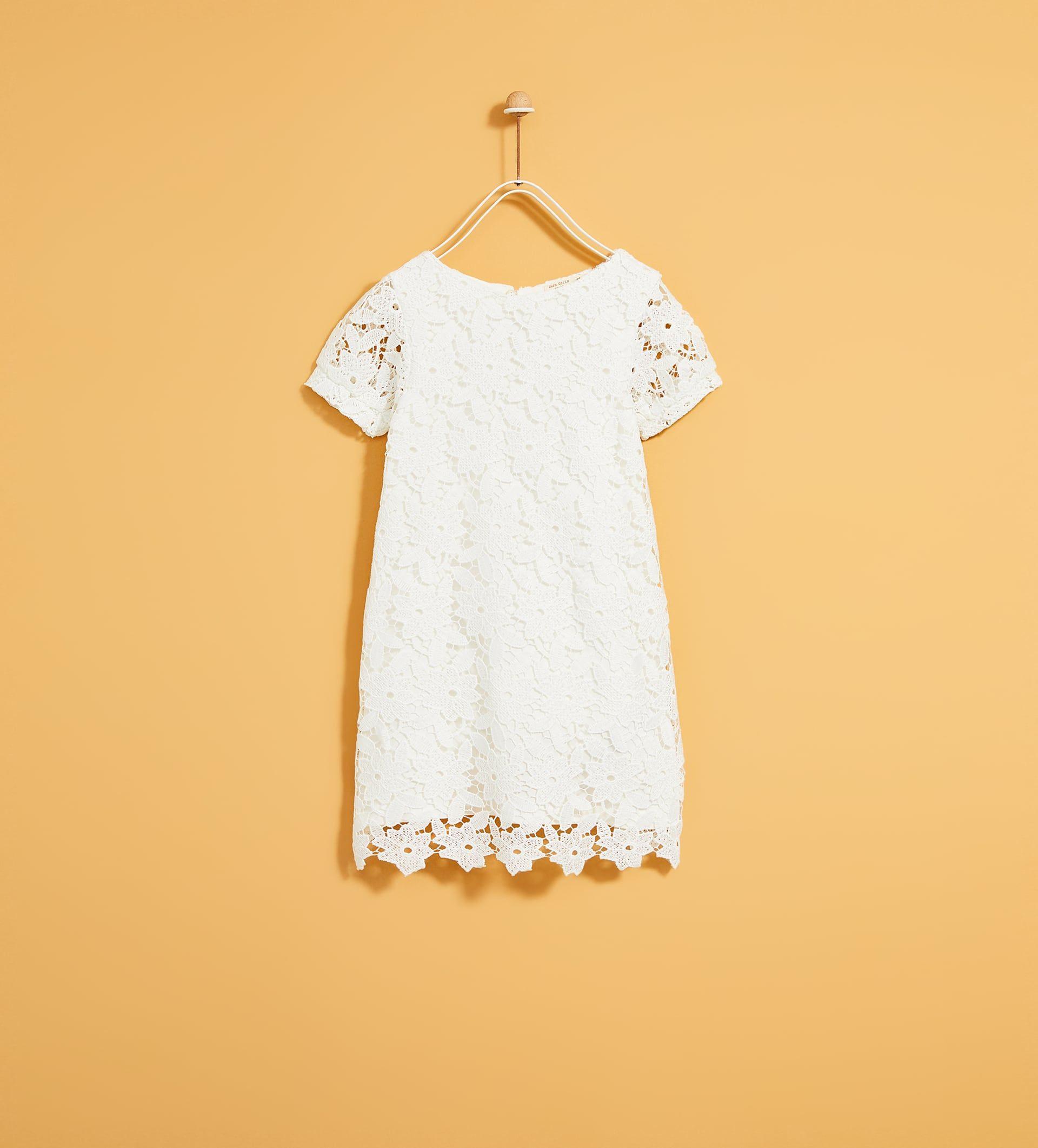 Zara  Kids  Guipure Lace Dress  Kleider Kleid Spitze