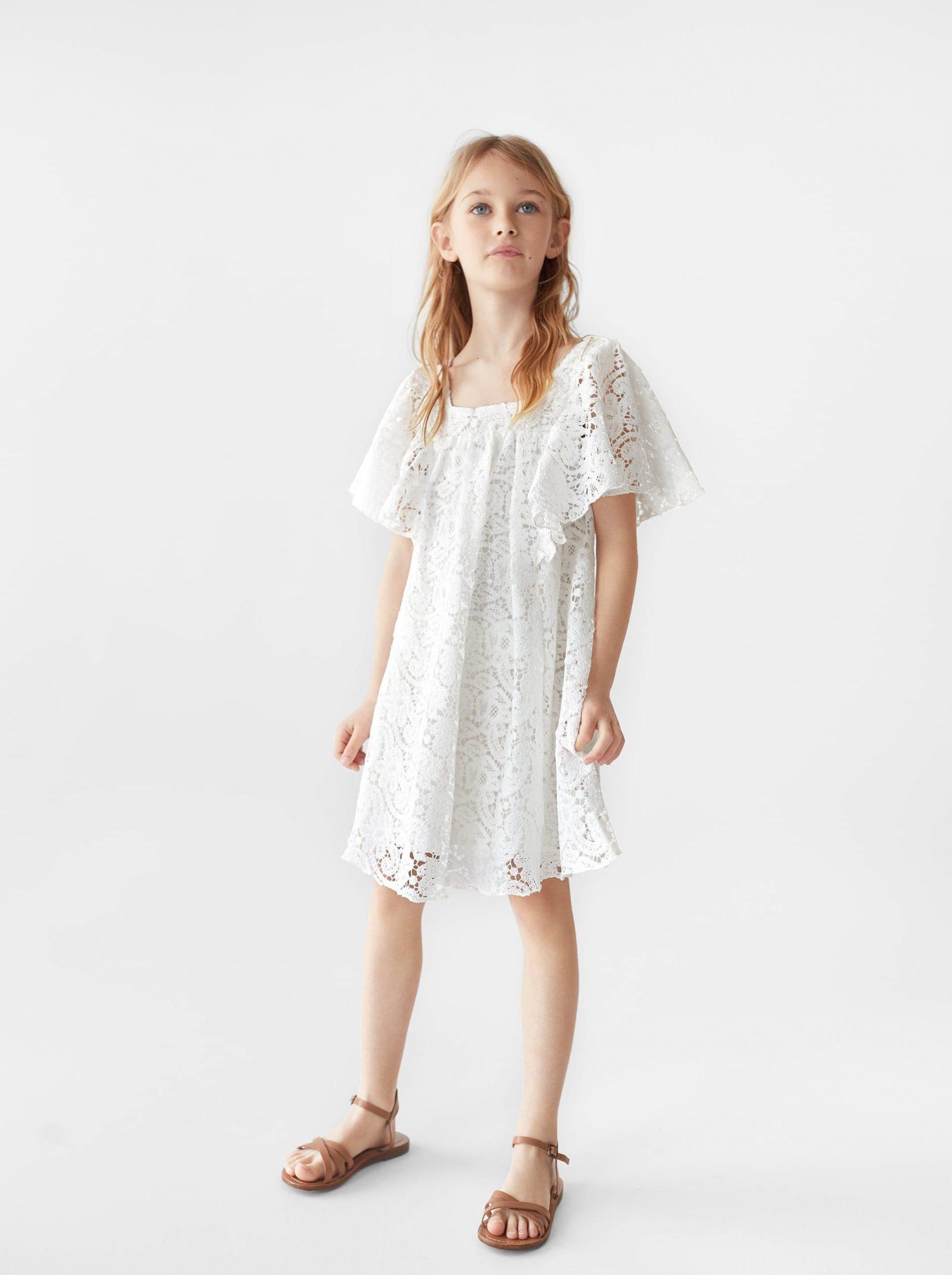 Zara  Kids  Lace Dress  Weißes Spitzenkleid Kleid