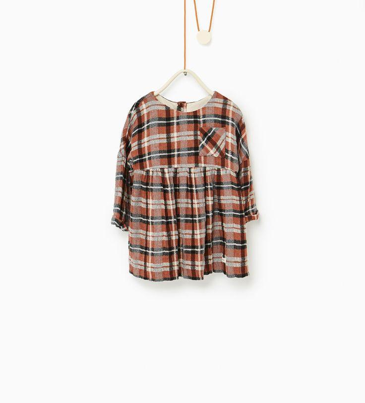 Zara  Modestil Tuch Kleinkind Mädchen Kleider