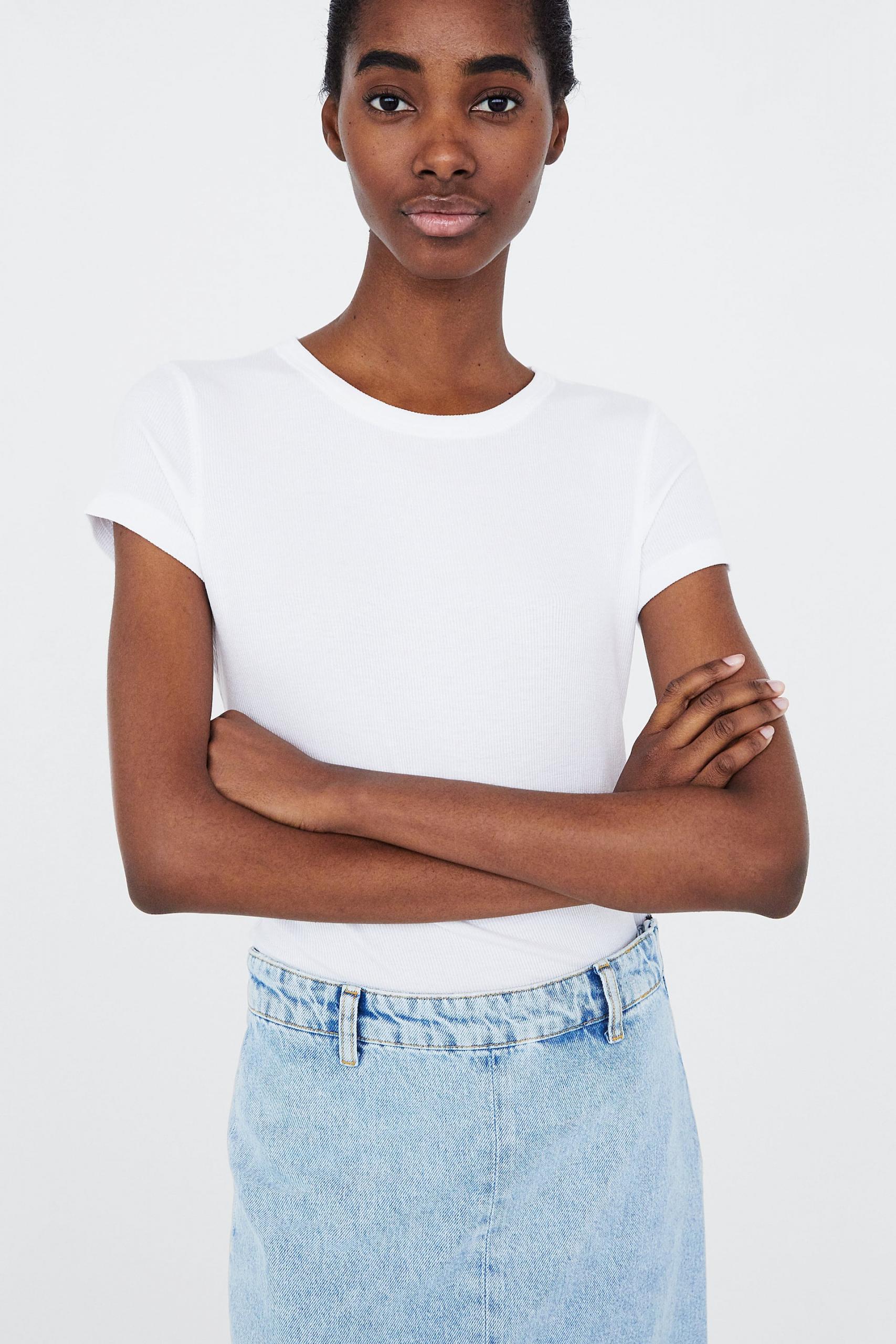 Zara  Ribbed Tshirt