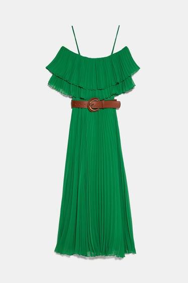 Zara România In 2020  Plissierte Kleider Kleid Mit