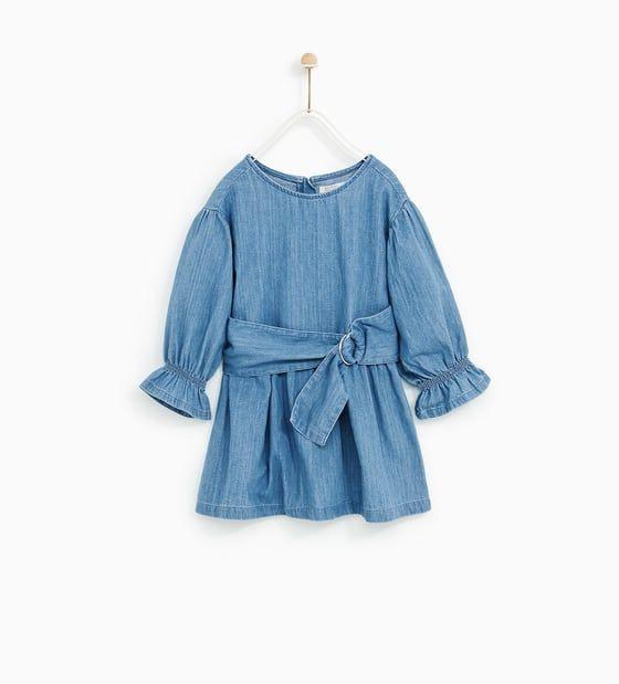 Zara  Sale  Denim Dress With Buckle  Kleidung Für