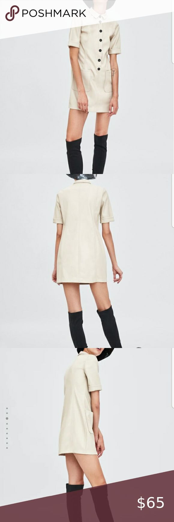 Zara Trafaluc Faux Leather Dress  Leather Look Dress