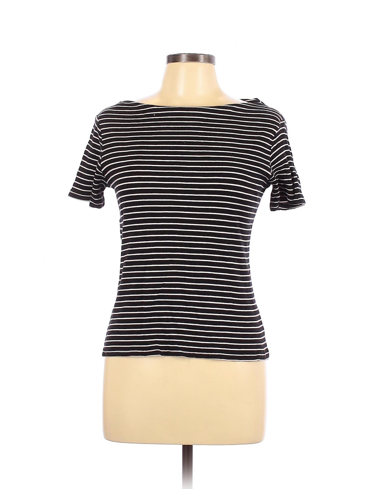 Zara Trf Women Black 3/4 Sleeve Tshirt L  Ebay