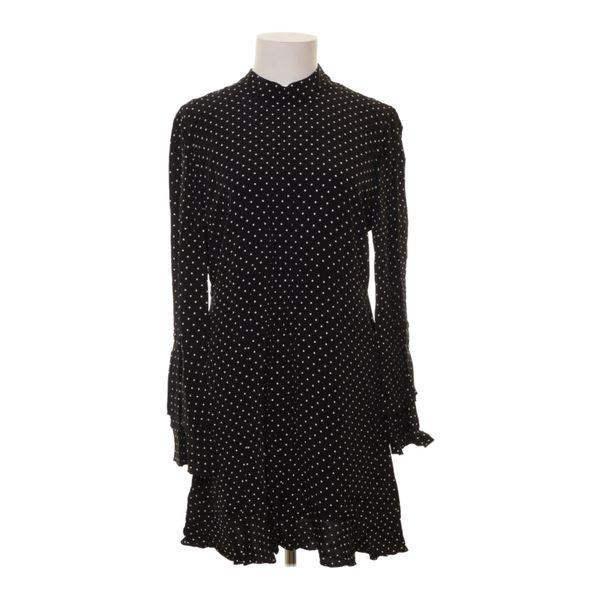 Zara Woman Kleid Größe L Schwarz/Weiß  Ebay