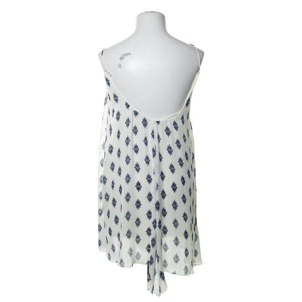 Zara Woman Kleid Größe S Blau/Weiß Polyester  Ebay