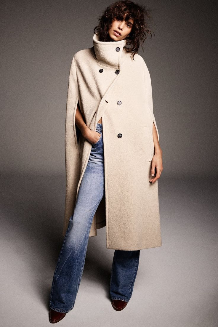 Zara  Woman  Limited Edition Cape In 2020  Zara Mode