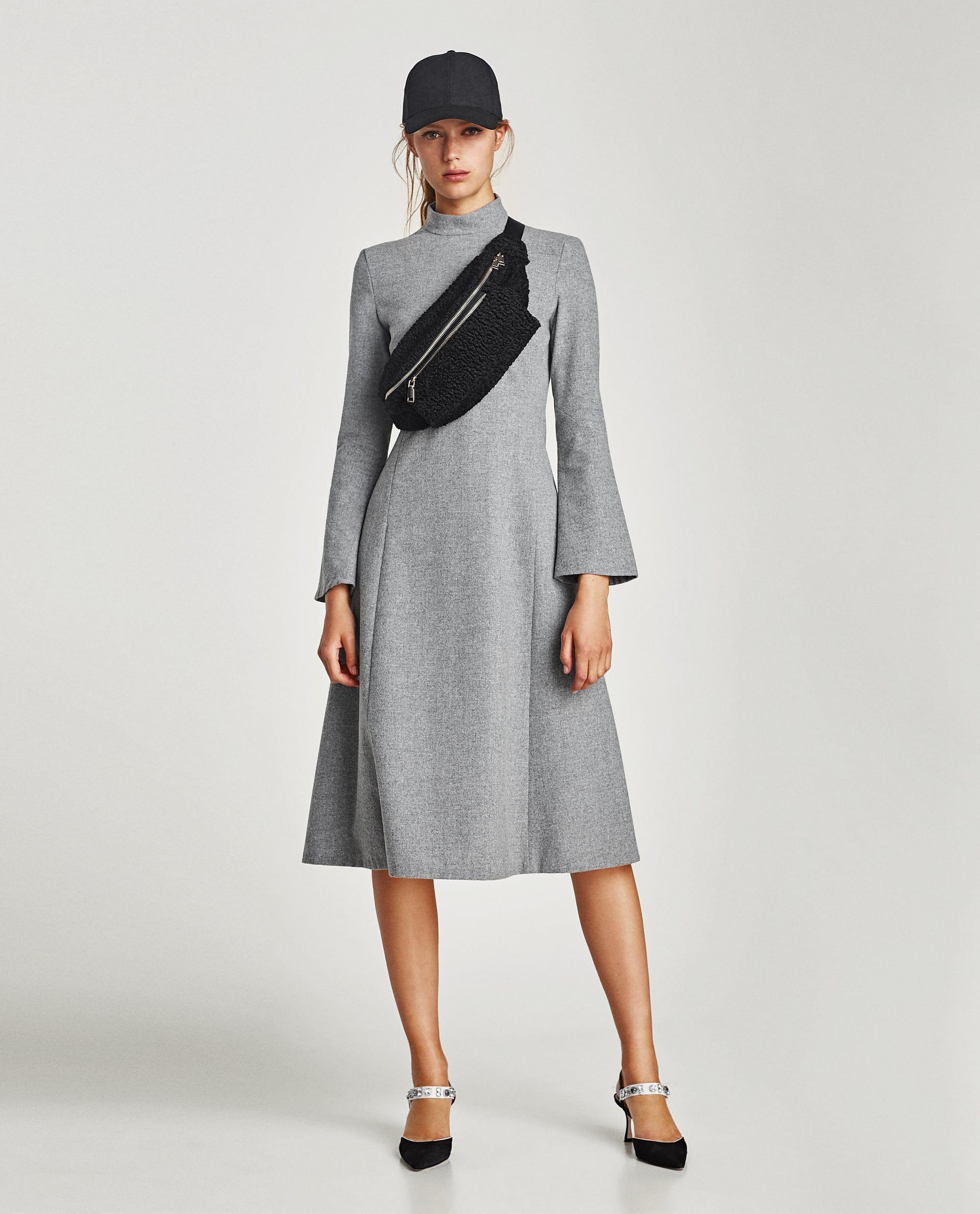Zara  Woman  Long Sleeve Midi Dress  Midikleider