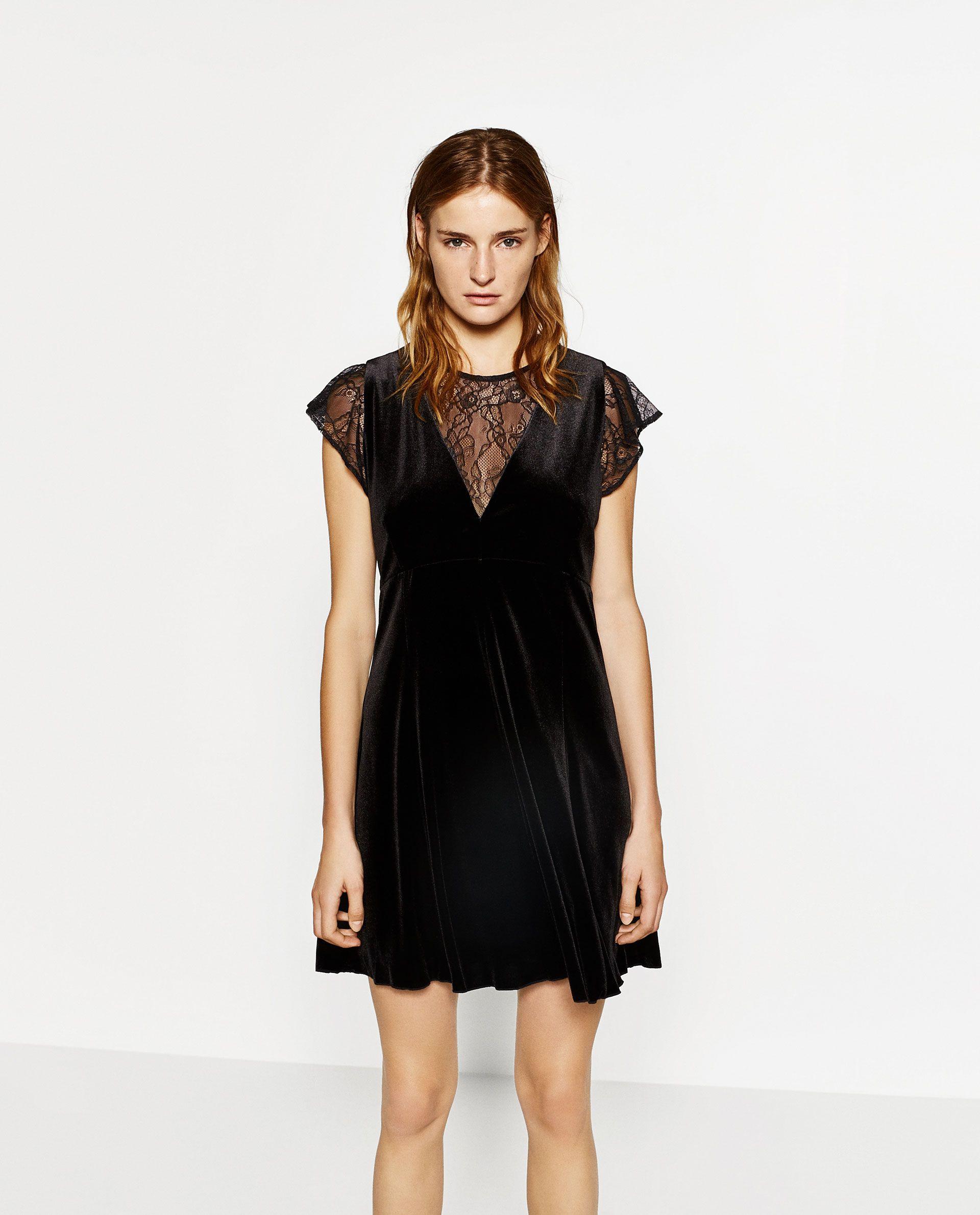 Zara  Woman  Velvet Dress  Das Kleine Schwarze Kleines