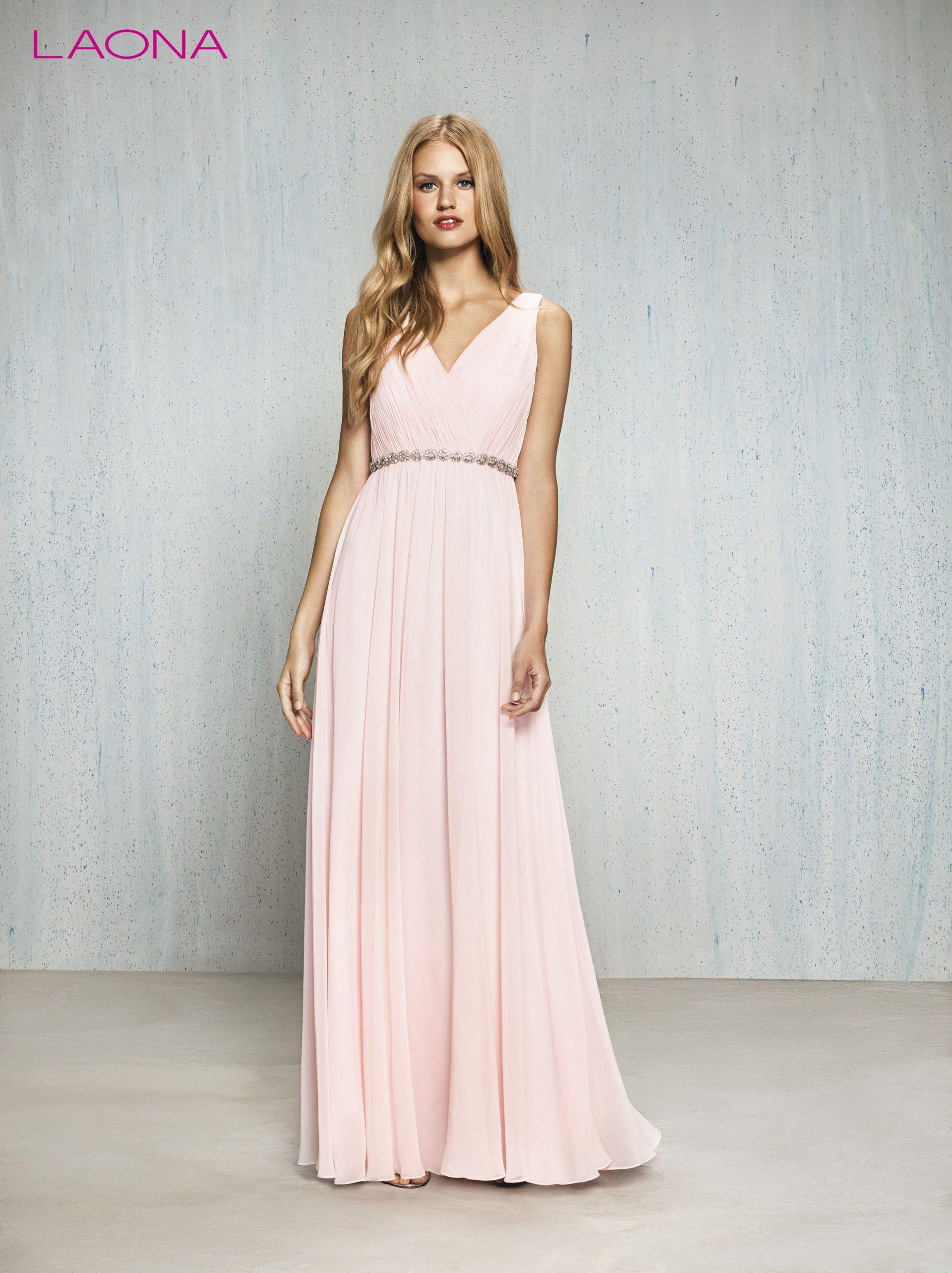 Zartes Langes Abendkleid Von Laona Pastellfarben Rosa