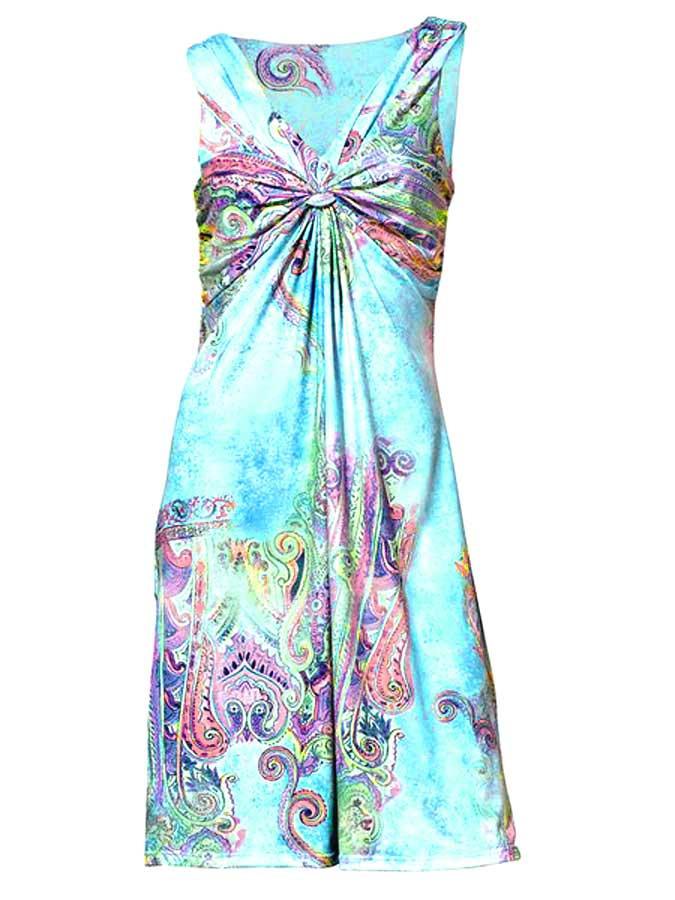 Zauberhaftes Kleid Gr 343638 Türkisbunt Heine