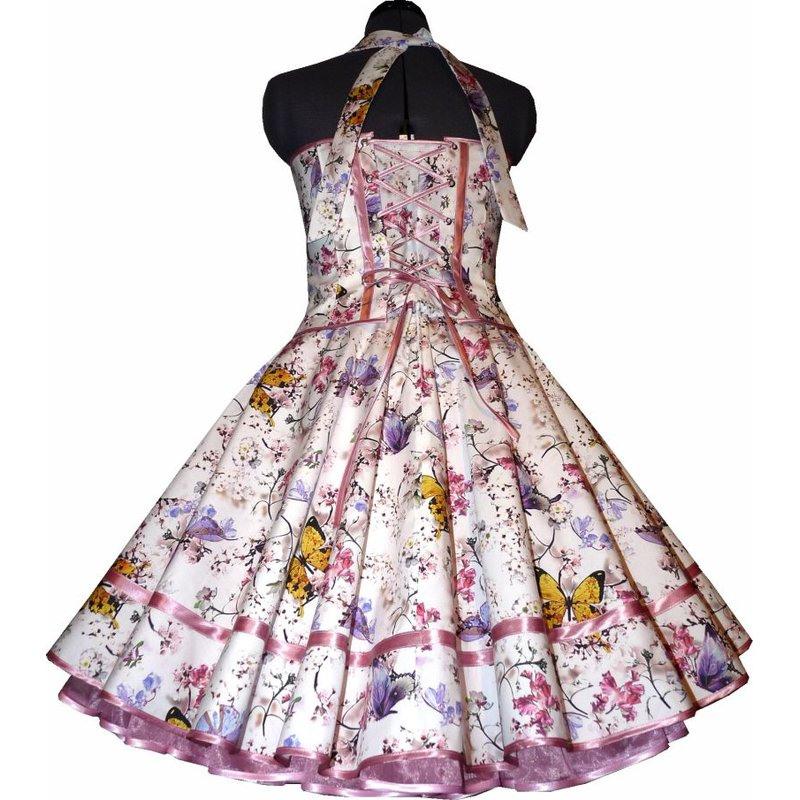 Zauberhaftes Kleid Zum Petticoat Mit Schmetterlingen
