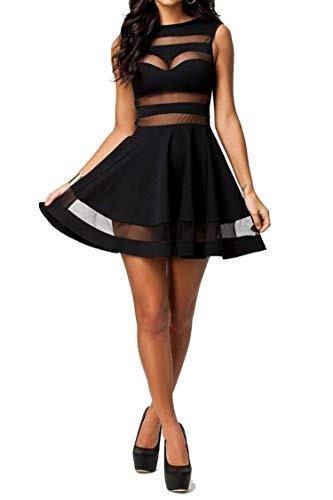Zeagoo Damen Sexy Sommerkleid Partykleid A Linien Kleid