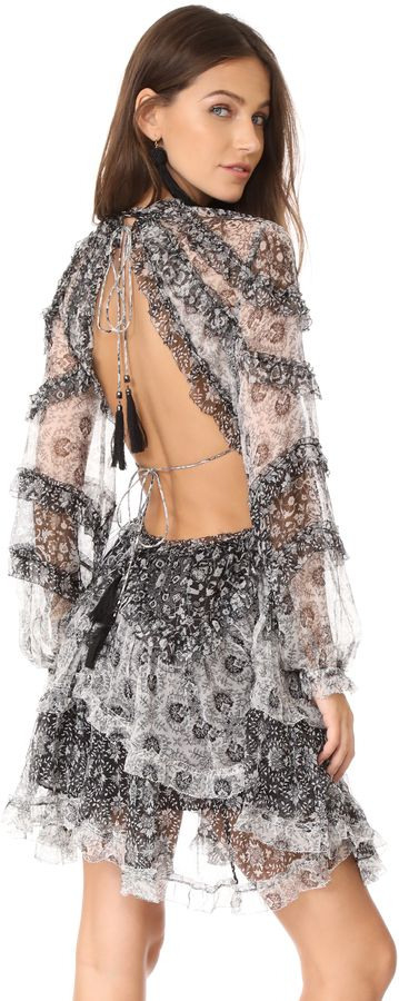 Zimmermann Divinity Ruffle Dress  Chic Only Glamour