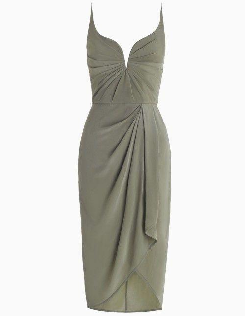 Zimmermann Fenchel Seide Drapieren Kleid Pinterest