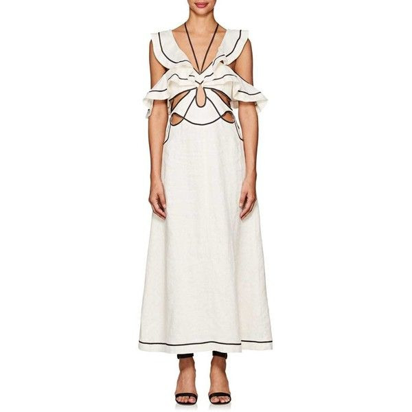 Zimmermann Women'S Linen Cutout Maxi Dress €965 Liked On