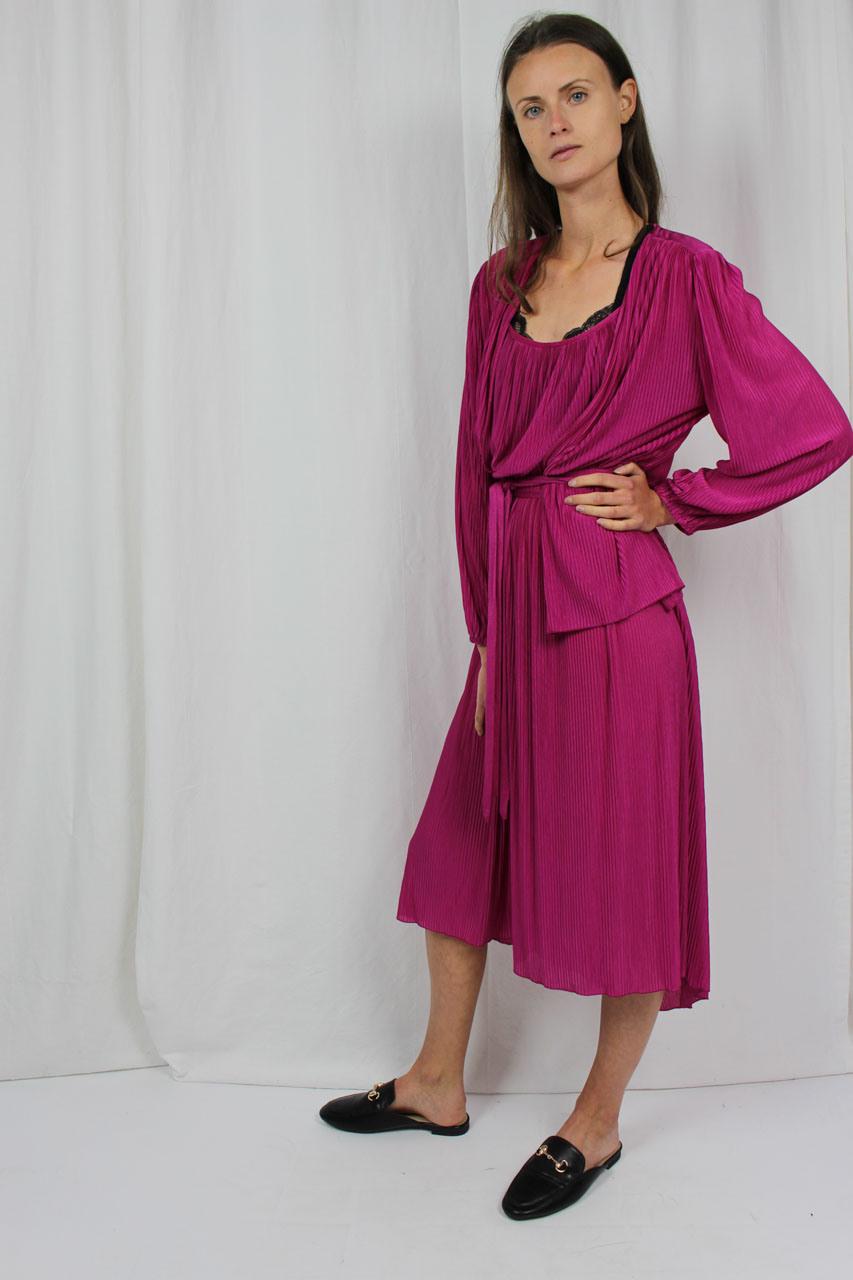 """Zweiteiler Pink Kleid Jacke """"Polly""""  Oma Klara"""