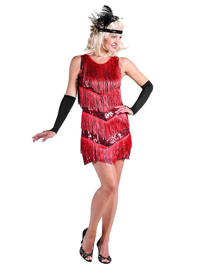 20Er Jahre Charleston Kleid Rot  Maskworld