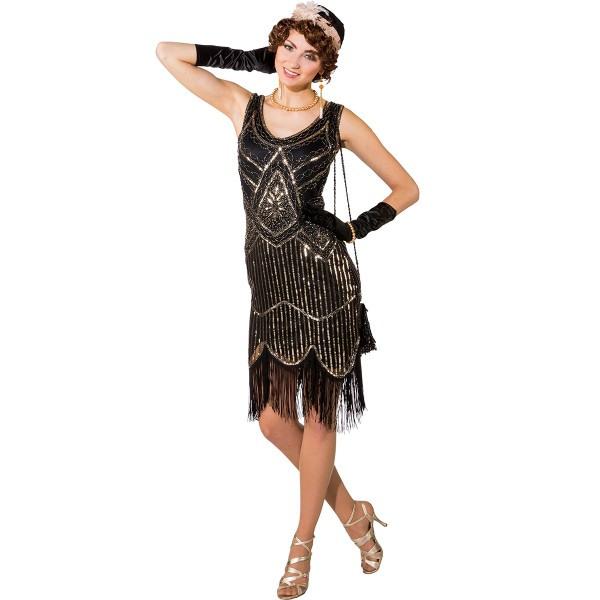 20Er Jahre Kleid Charleston Kostüm Pailetten Glitzer