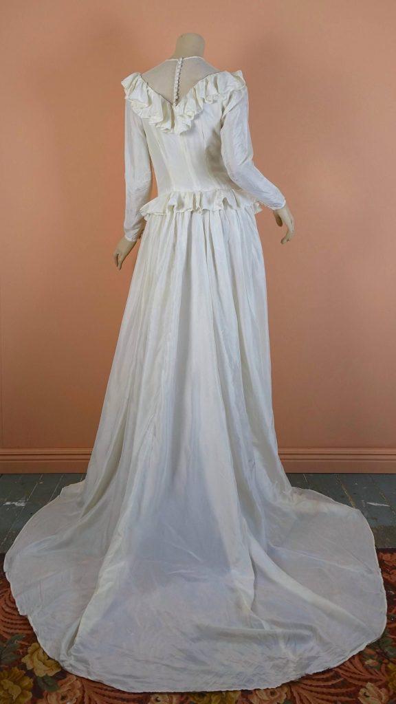 40Er Jahre Fallschirm Seide Hochzeit Kleid Vintage 1940Er