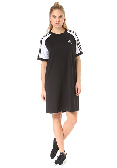 Adidas Raglan  Kleid Für Damen  Schwarz  Planet Sports
